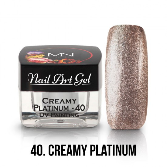 UV Painting Nail Art Gel - 40 - Creamy Platinum - 4g