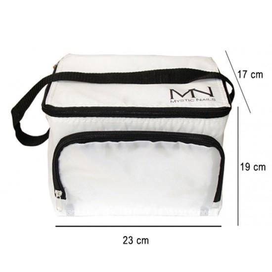Cooler bag with MN logo - white